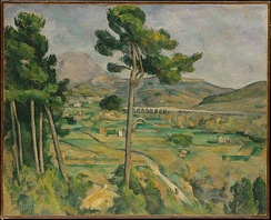 Paul Cézanne's Mont Sainte-Victoire and the Viaduct of the Arc River Valley