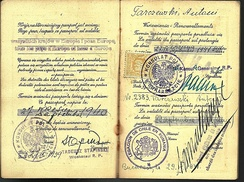 Polish passport extended in 1941 by Righteous Among the Nations Chilean diplomat Samuel del Campo