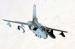 RAF GR4 Tornado fighter on a combat missson over Iraq during Operation Telic.