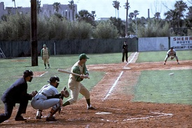 Colavito batting for the Kansas City A's during Spring training in 1964.