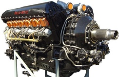 A Rolls-Royce Merlin V-12 Engine