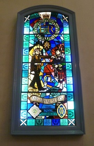 Royal Scots Regiment window in the Canongate Kirk