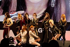 "Girls' Generation performing ""The Boys"" at the 2012 LG Cinema 3D World Festival"