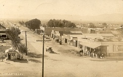 Looking south at the corner of Sierra Highway and Lancaster Blvd. in Lancaster in 1913
