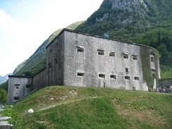Remains of Kluže, an Austro-Hungarian fortification between Bovec and Log pod Mangrtom