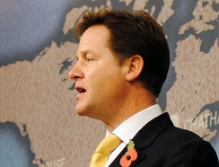 Nick Clegg and the Liberal Democrats showed a great fall in the polls after entering a coalition government with the Conservatives.