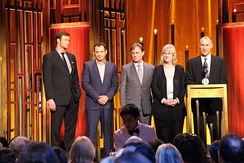 Members of the cast and crew at the 74th Annual Peabody Awards
