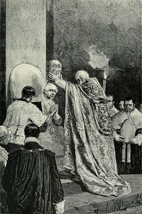Depiction of Leo XIII's papal coronation – image circa 1900.
