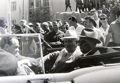 Tito and Nikita Khrushchev in Skopje after the 1963 earthquake