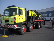 This TATRA T 815 recovery truck has dual rear wheels (12 wheels in all) but is still categorized as an 8x8