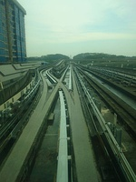 Junction in track of Singapore LRT