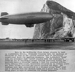 K-class blimps of USN Blimp Squadron ZP-14 conducted antisubmarine warfare operations at the Strait of Gibraltar in 1944–45.