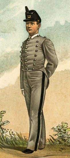 United States Military Academy uniform in 1882