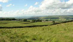 View of Airedale Looking towards north west towards the Malham Hills from Keighley