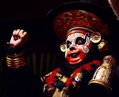 Performer playing Sugriva in the Koodiyattam form of Sanskrit theatre.