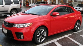Kia Motors is a South Korean automobile manufacturer, with a production output of 2 million vehicles per year. Pictured is the Kia Forte Koup.