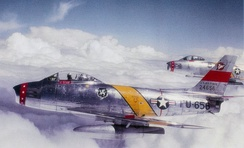 417th Fighter-Bomber Squadron F-86F Sabres over Germany[note 8]