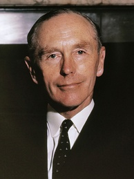 A photograph of Sir Alec Douglas-Home