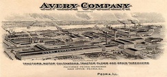 Bird's Eye view of Avery Company, Peoria, IL