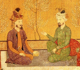 The Mughal Emperor Babur and his heir Humayun, The word Mughal, is derived from the Persian word for Mongol.