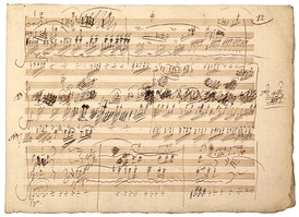 "Manuscript of the ""Ghost"" Trio, Op. 70, No. 1, by Beethoven"