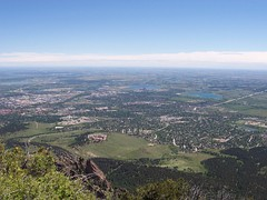 View of South Boulder from Bear Peak