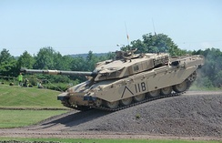 A British Army Challenger 1 tank