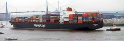 Colombo Express, one of the largest container ships in the world, owned and operated by Hapag-Lloyd of Germany