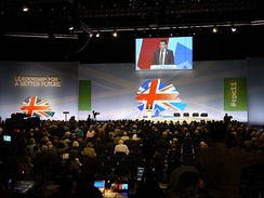 The National Conservative Convention is held during the Conservative Party Conference.