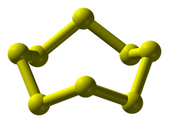The structure of the cyclooctasulfur molecule, S8