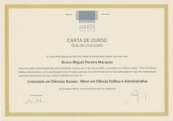 Another example of a Portuguese licenciatura degree diploma