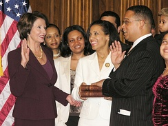 In 2006, Ellison became the first Muslim to be elected to Congress. He was sworn in on a Quran by Nancy Pelosi.