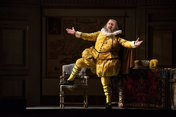 Ambrogio Maestri as Falstaff in the 2016 Vienna State Opera production, directed by David McVicar, conducted by Zubin Mehta.