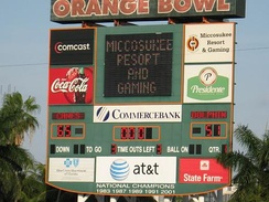 Final game at the Orange Bowl