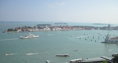 Giudecca Canal. View from St Mark's Campanile.