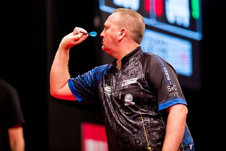 Durrant during the 2019 European Darts Matchplay