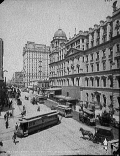 The exterior of Grand Central Station, c. 1904