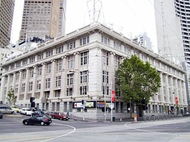 The old Herald and Weekly Times building in Flinders Street.