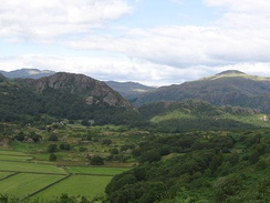 View from the slopes of Dow Crag in the Coniston Fells.