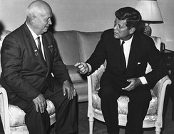 Nikita Khrushchev meeting John F. Kennedy at the Vienna Summit, June 1961