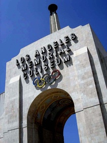 The peristyle arch entrance to the Coliseum.