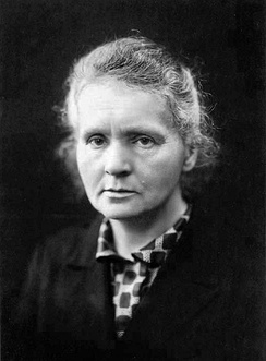 Marie Curie was the first person to be awarded two Nobel Prizes: Physics in 1903 and Chemistry in 1911.[145]