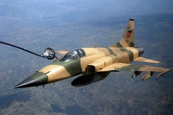 Royal Moroccan Air Force F-5E Tiger III during an aerial refueling mission in African Lion 2009