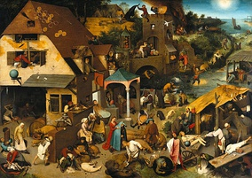 Netherlandish Proverbs by Pieter Bruegel the Elder, 1559