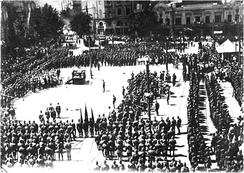 The 11th Red Army of the Russian SFSR holds a military parade, 25 February 1921 in Tbilisi