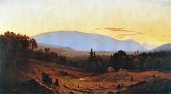 Hunter Mountain, Twilight (1866) by Hudson River school artist Sanford Robinson Gifford, showing the devastation wrought by years of tanbarking and logging.
