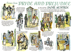 "Scenes from ""Pride and Prejudice"", by C. E. Brock"