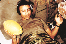 Shaggy during his military service with the United States Marine Corps.