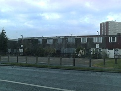 Uninhabited prefabricated council houses in Seacroft, Leeds, UK