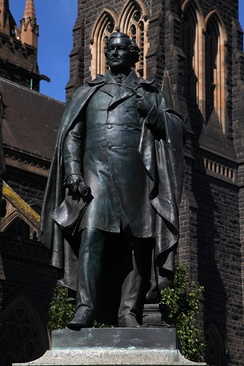 Statue of Daniel O'Connell outside St Patrick's Cathedral, Melbourne